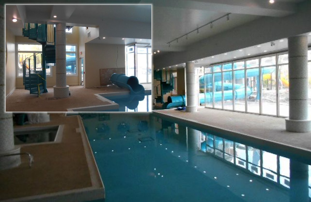 Cranberry slide and pool overview